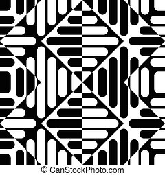 Seamless Rhombus Pattern Monochrome Background