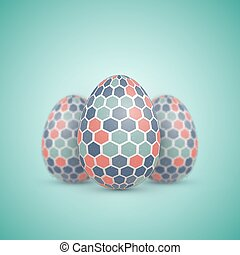 Realistic Vector Easter Egg Icon Painted Vector Egg Set with...