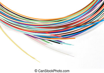 colored optical fibers - colored tight buffered optical...