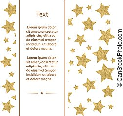 Greeting card with gold stars - Greeting card template with...