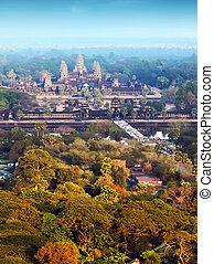 Aerial view Angkor Wat  Cambodia.