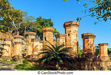 old towers in Nha Trang, Vietnam - Old towers in Nha Trang,...