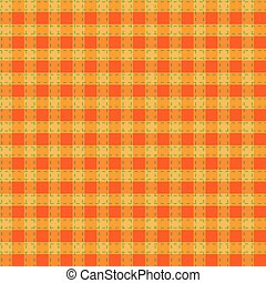 Seamless orange-yellow-green checkered pattern
