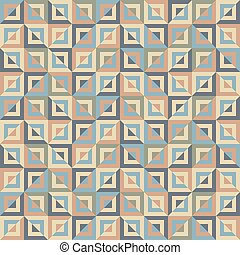 Abstract seamless pattern of colored divided square blocks....