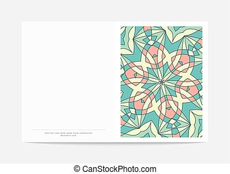 Postcard Retro . Cover in turn with a bright pattern