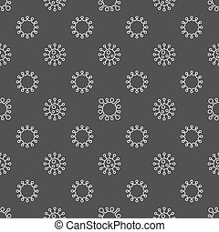 Bacterium seamless pattern - vector dark virology or...