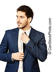 respectable appearance - Fashion shot of a handsome man...