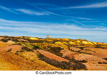 Parys Mountain with ruined windmill