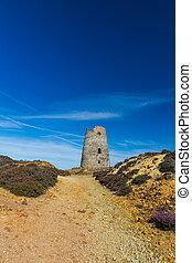 Ruined windmill on Parys Mountain - Parys Mountain ex quarry...