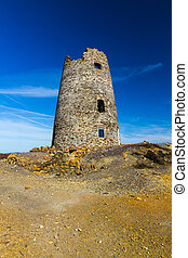 Ruined windmill on Parys Mountain - Parys Mountain ex quarry...