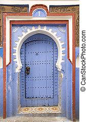 Very old wooden door of Morocco