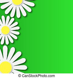 abstract floral background with dai - Abstract floral...