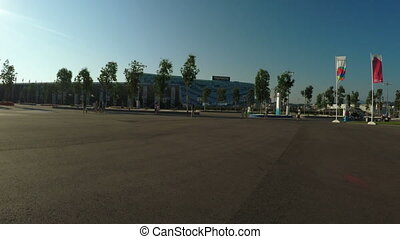Olympic Park in Sochi in backlight sun - Directions to...