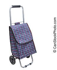 Shopping trolley bag - Shopping trolley bag, isolated on a...