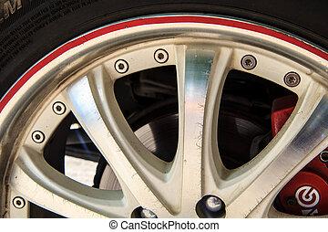 Alloy wheel drive - Alloy wheels, auto white decor