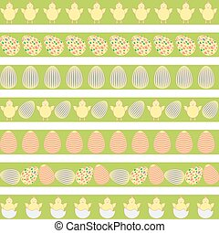 Easter pale borders