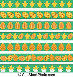 Easter colorful borders