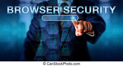 Business Internet User Pushing BROWSER SECURITY - Business...