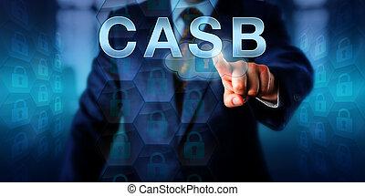 Enterprise IT Specialist Pressing CASB - Male enterprise IT...