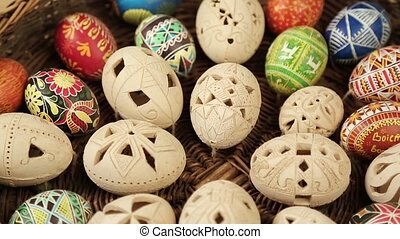 colorful Easter eggs background happy