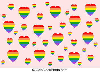 LGBT heart - illustration, LGBT heart background