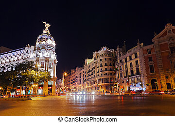 Madrid Spain at night