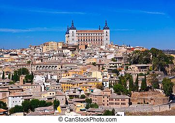 Alcazar in Toledo - Spain - View of the Alcazar in Toledo -...