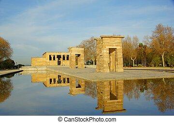Templo de Debod Parque del Oeste in Madrid