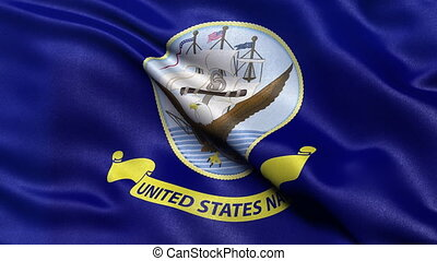 USA Navy flag seamless loop - United States of America Navy...
