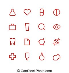 Medical and laboratory icon set