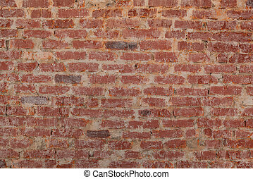 Vintage red brick wall texture for background