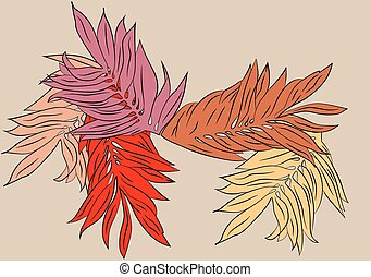 Autumn is romantic pattern of leaves red and orange - Autumn...