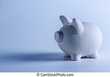 moneybox - white pig money box closeup
