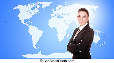 Portrait of a business woman - Young attractive...