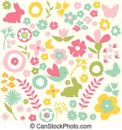 Happy Easter, spring background