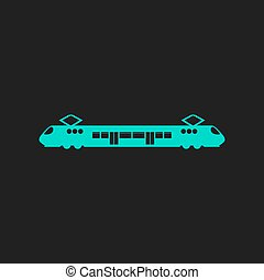 Suburban electric train Flat simple modern illustration...