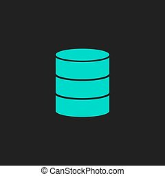 Database flat icon - Database. Flat simple modern...