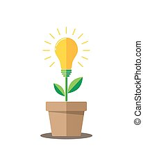 Lightbulb plant - vector illustration.