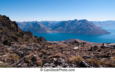 Queenstown and Remarkables range - Remarables mountain range...