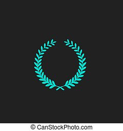 Victory laurel wreath - Victory laurel wreath. Flat simple...