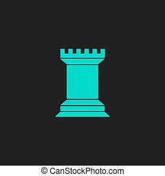 Chess Rook icon - Chess Rook. Flat simple modern...