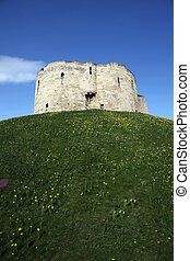 Castle York,Clifford\'s Tower - Clifford\'s Tower in the...