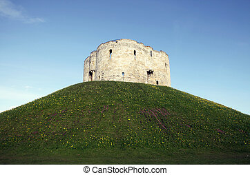 Castle York,Cliffords Tower - Cliffords Tower in the city of...