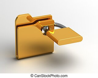 Computer icon for secure folder