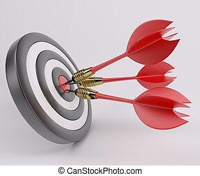 Three arrows darts in center.
