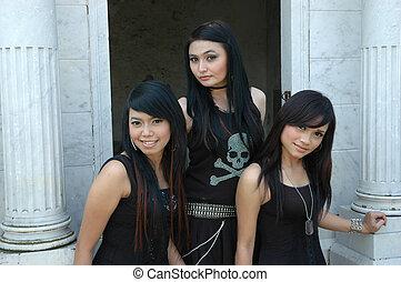 three ladies