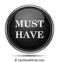 Must have icon Internet button on white background