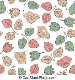 Seamless vegetable pattern with a s