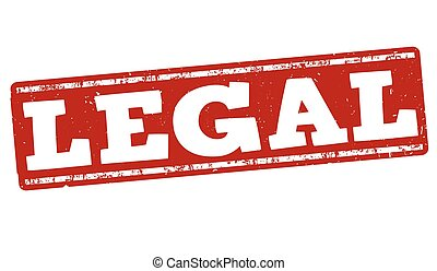 Legal stamp - Legal grunge rubber stamp on white background,...