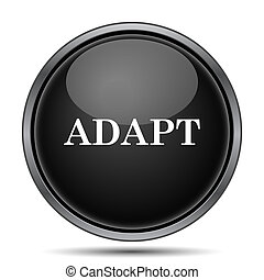 Adapt icon Internet button on white background